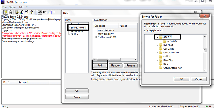 Filezilla ftp over tls is not enabled how to