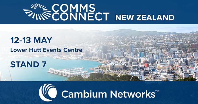 Comms Connect NZ 2021 Cambium Facebook Banner