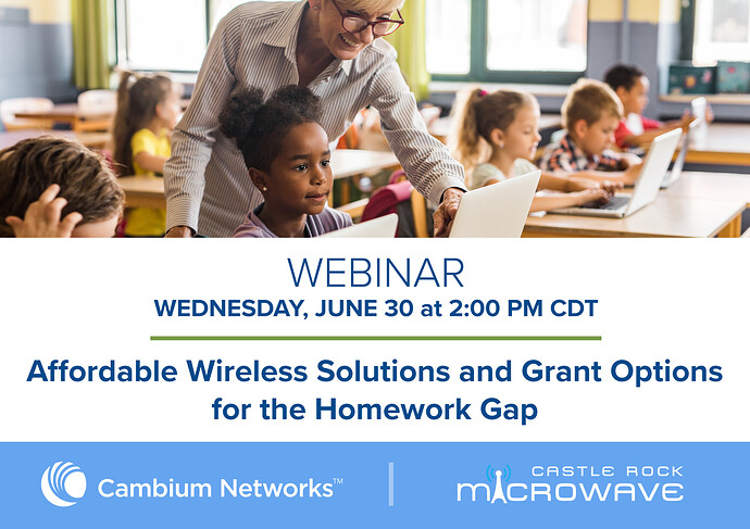 Affordable Wireless Solutions and Grant Options for the Homework Gab Webinar Social Banner