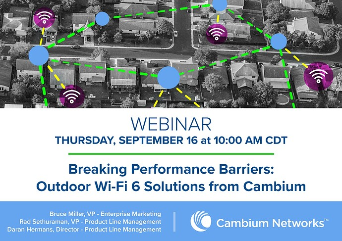 Webinar Graphic (Breaking Performance Barriers Outdoor Wi-Fi 6 Solutions from Cambium)