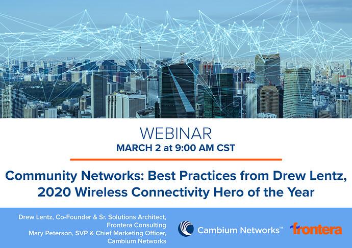 Webinar Graphic (Community Networks Best Pracices from Drew Lentz)