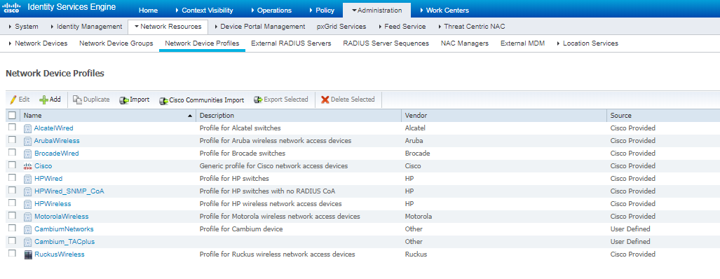 Setting up Cisco-ISE for RADIUS Services to Support Cambium products