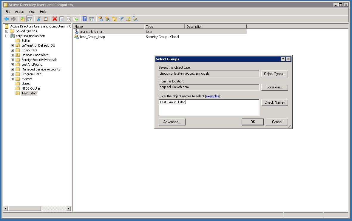 Authenticating guest user via AD server using LDAP protocol