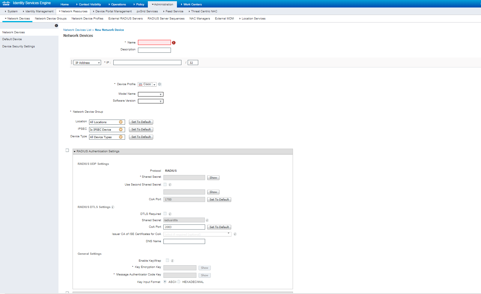 Setting up Cisco-ISE for RADIUS Services to Support Cambium