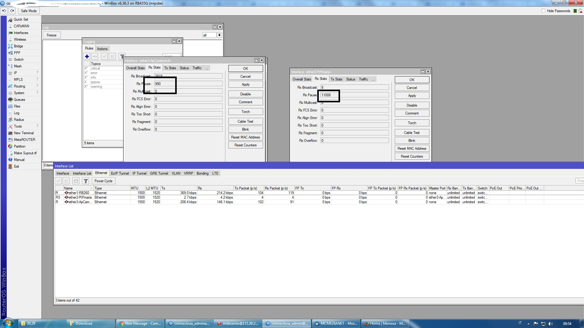 RX frame pause between mikrotik-epmp1000 - Cambium Networks