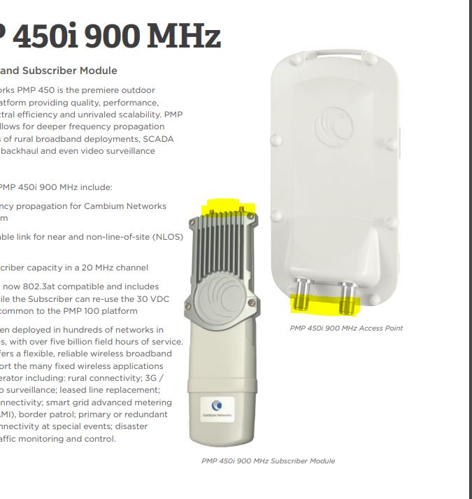 PMP 450 900 Mhz with Omnidirectional Antenna - Cambium Networks