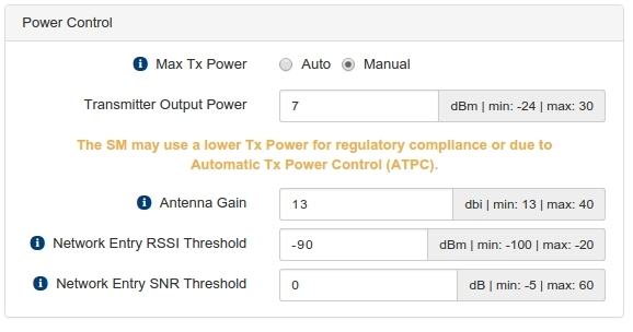 Tx Power Configuration - Cambium Networks Community